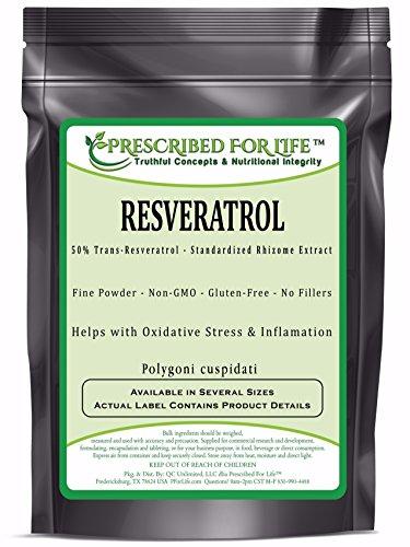 Resveratrol - 50% Trans-Resveratrol - Natural Rhizome Extract Powder (Polygoni cuspidatium), 25 lb by Prescribed For Life