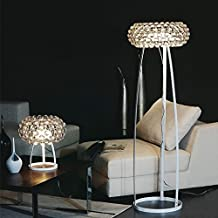 "H69"" X D20"" Caboche Floor Lamp by Patricia Urquiola and Eliana Gerotto. Crystal Acrylic Balls Chandelier Ceiling light fixture"