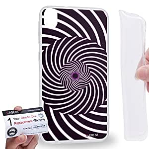Case88 [HTC Desire 820] Gel TPU Carcasa/Funda & Tarjeta de garantía - Art Fashion Visual Art Effect 9 Art1018