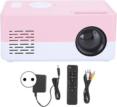 Opinión sobre Kafuty-1 Proyector portátil 1080P, Cine en casa Inteligente LED de Alta definición, Vida útil de 30000 Horas, Resistente, Duradero, fácil de Transportar y configurar. (Blanco Rosa)(EU)