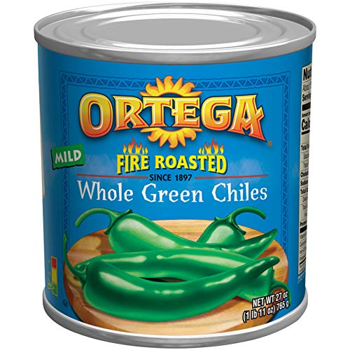 - Ortega Peppers, Whole Green Chiles, Mild, 27 Ounce (Pack of 12)