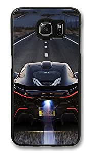 S6 Case, Mclaren P1 Back Race Ideas Ultra Fit Black Bumper Shockproof Case For Galaxy S6 Customizable Hard PC Samsung Galaxy S6
