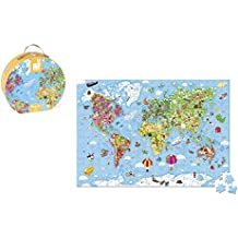 Janod Hat Box Puzzle – Giant World Map Puzzle