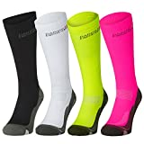 Graduated Compression Socks (US Women 5-7 // US Men 3.5-6, Pink/Grey)