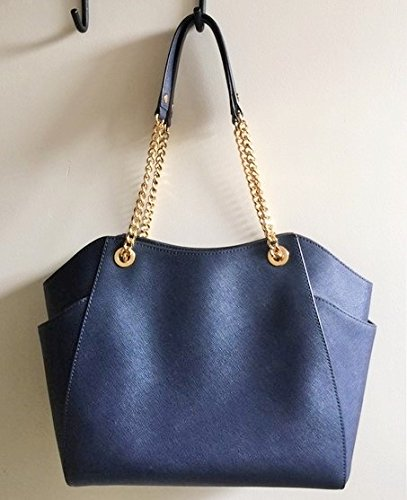 924588679969 Michael Kors Jet Set Travel LG Chain Navy Blue - Import It All