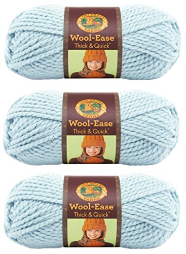 Lion 640-307 Wool-Ease Thick & Quick Yarn , 97 Meters, Mystical (3 Pack) by Lion Brand Yarn