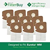 9 Eureka Type MM Mighty Mite & Sanitaire High Efficiency Allergen Bags. Designed by FilterBuy to Replace Eureka Part #s 60297A, 60295, 60296, 60297, 60295B.