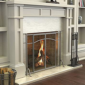 Amazon Hyde Park Flat Panel Fireplace Screen With Doors