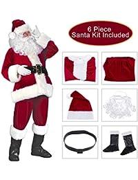 Santa Suit Christmas Santa Claus Costume for Men Women Xmas Santa Outfit