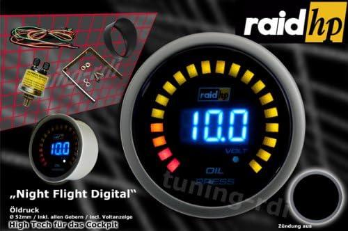 Raid Hp 660501 Zusatzinstrument Öldruckanzeige Serie Night Flight Digital Blue Auto