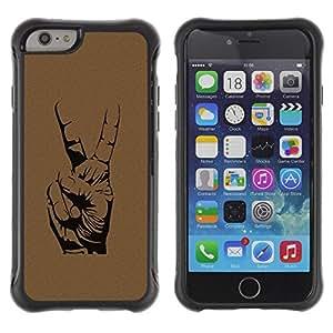 Suave TPU GEL Carcasa Funda Silicona Blando Estuche Caso de protección (para) Apple Iphone 6 PLUS 5.5 / CECELL Phone case / / Peace Hand Sign /