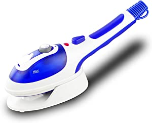 TOPLIVING Portable Powerful Clothes Steamer with Temperature Control,Handheld Garment Steamer Removes Wrinkles for Clothing with Fast Heat,Fabric Steam Iron for Home and Travel(Blue)