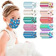 100Pcs Kids Disposable Face_Mask - Childrens Face_Mask Assorted Colors Cartoon Design Boys Girls 3-Ply Face_Co