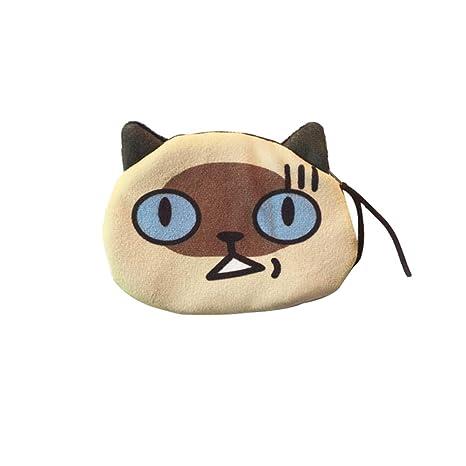 Originaltree - Monedero Redondo de Felpa para Gatos, con Cremallera, Bolsa de Almacenamiento pequeña