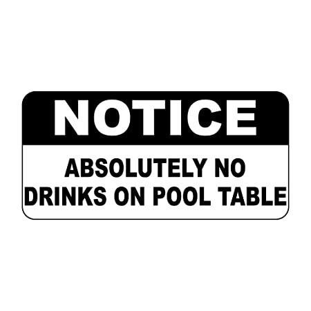 Fastasticdeals Aviso no Absolutamente Bebidas en Mesa de Billar ...
