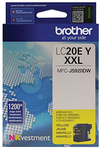 (Brother LC20EY Super High Yield Yellow Ink Cartridge)