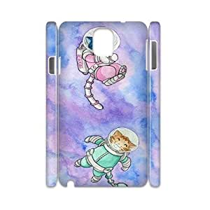 Diy Space Cat Flying Phone Case for samsung galaxy note 3 3D Shell Phone JFLIFE(TM) [Pattern-2] hjbrhga1544