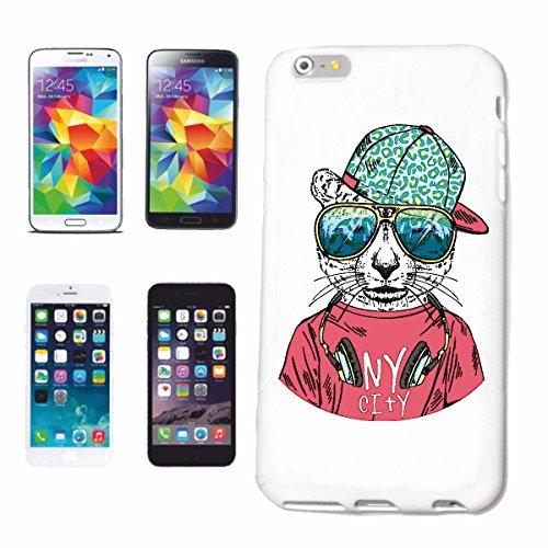 """cas de téléphone iPhone 6+ Plus """"tigre cool avec des écouteurs et LUNETTES BIG CAT LEOPARD KING TIGER Siberian Tiger BIG CAT CATS VISAGE PANTHERA"""" Hard Case Cover Téléphone Covers Smart Cover pour App"""