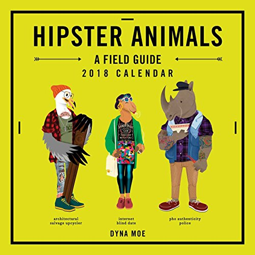 Cool Calendar - Hipster Animals 2018 Wall Calendar