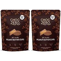ChocZero's Dark Chocolate Peanut Butter Cups - Sugar Free, KETO FRIENDLY, 2Bags