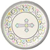 """amscan 1 X Blessed Day 7"""" Plate, Multicolor"""