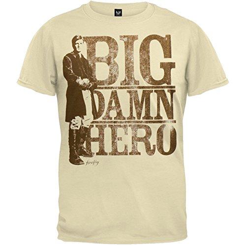 Firefly - Mens Big Damn Hero T-shirt Small Tan (Firefly Clothing Sale)