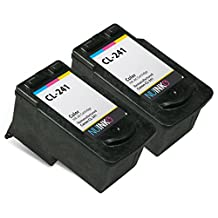 NUINKO 2 Pack Remanufactured Canon CL-241 Ink Cartridge Color for Canon PIXMA MG3220 PIXMA MG3520 PIXMA MX452 PIXMA MG2220 PIXMA MG3222 PIXMA MX472 PIXMA MG2120 PIXMA MX522 PIXMA MX459 PIXMA MG3522 PIXMA MX432 PIXMA MX512 PIXMA MG3122 PIXMA MX392 PIXMA MG4220 PIXMA MG3120 PIXMA MX532 PIXMA MX479 Inkjet Printers