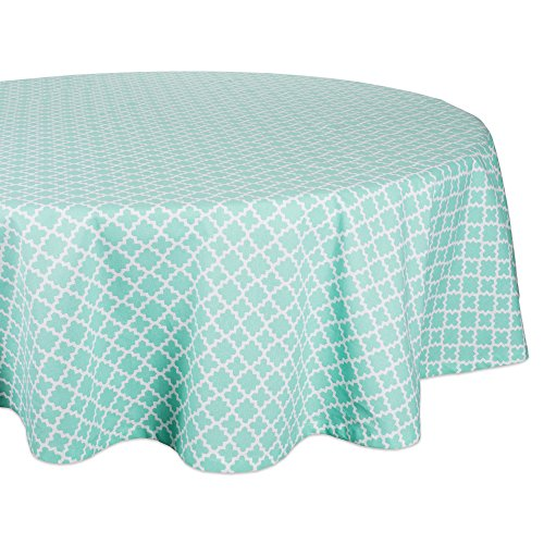 DII Round Lattice Cotton Tablecloth for Weddings, Picnics, Spring Parties and Everyday Use - 70