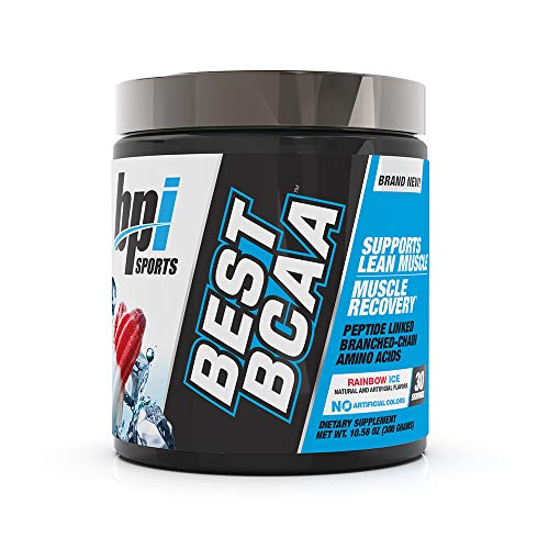 BPI Sports Best BCAA - BCAA Powder - Branched Chain Amino Acids - Muscle Recovery - Muscle Protein Synthesis - Lean Muscle - Improved Performance - Hydration - Rainbow Ice - 30 Servings - 10.58 oz. -