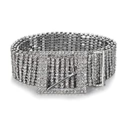 Women Full Rhinestone Crystal Chain Belt