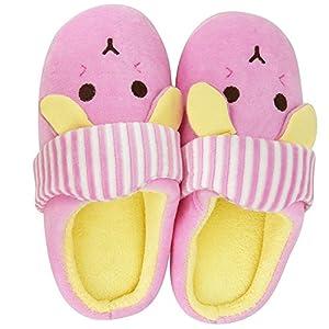 JACKSHIBO Boys Girls Comfortable Fur Lining House Slippers Warm Soft Slip On Indoor Slippers(Toddler/Little Kid)