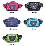 Outdoor Sport Large Capacity Waist Bag Fanny Pack For Men Women Travelling,Cycling, Hiking,Camping (Rose)