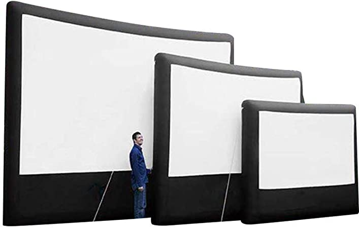 Gran Pantalla De Cine Inflable Para Exteriores De 4x3M / 5x3M / 6X4M, Pantalla De Proyección De Lienzo Publicitario HD, Pantalla De Proyección Plegable Portátil Móvil, Adecuada Para Inversión Public: Amazon.es: Hogar