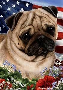 Amazon Com Pug Dog Breed Patriotic House Flag 28 X 40