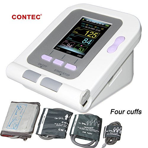 Pediatric Cuff - FDA Approved Fully Automatic Upper Arm Blood Pressure Monitor 3 Mode 4 Cuffs Electronic Sphygmomanometer