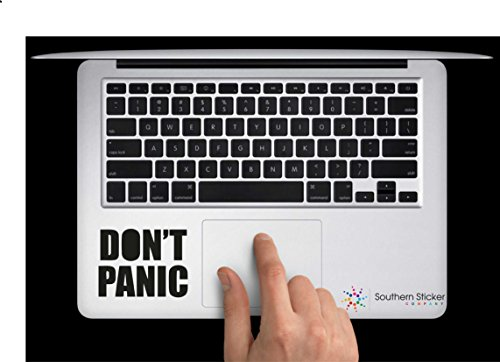 Don't Panic Vinyl Car Sticker Symbol Silhouette Keypad Track Pad Decal Laptop Skin Ipad Macbook Window Truck Motorcycle