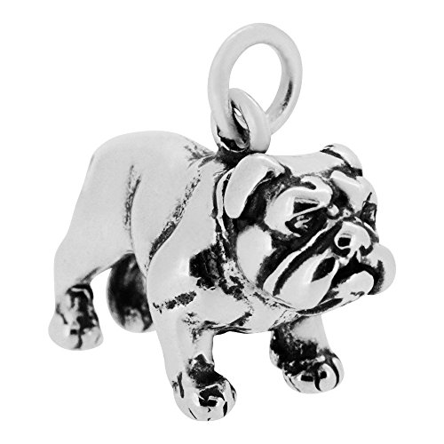 Dog 3d Sterling Silver Charm - 4