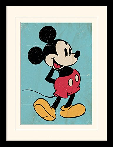 1art1 101532 Micky Maus Retro Gerahmtes Poster F/ür Fans Und Sammler 40 x 30 cm
