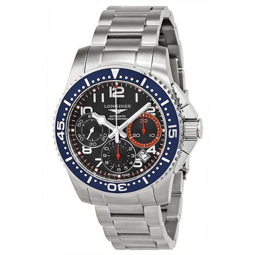 Longines Hydro Conquest Blue and Orange Dial Blue Bezel Stainless Steel Mens Watch L36964036