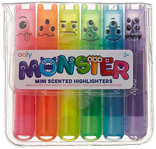 OOLY, Mini Monsters Scented Markers, Set of 6 (130-24) -