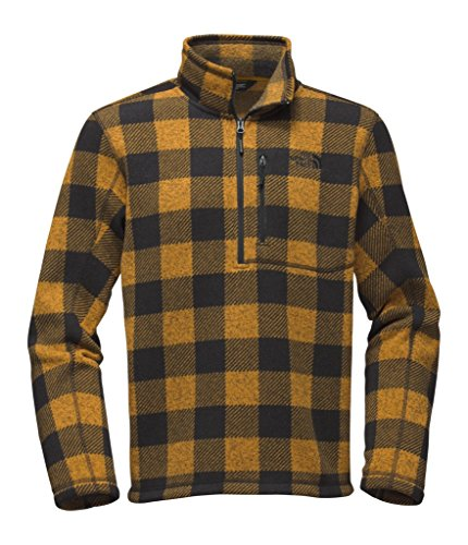 The North Face Men's Novelty Gordon Lyons 1/4 Zip - arrowwood Yellow Grizzly Print - M (Past (The North Face Pullover Fleece)