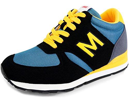 Mnx15 Hommes Ascenseur Chaussures Hauteur Augmentation 2,7 Envy Bleu Bleu