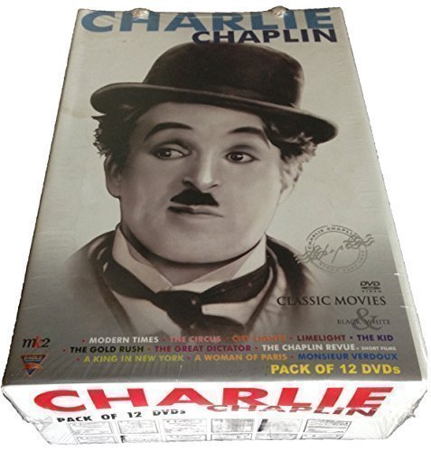 Charlie Chaplin 11 Best Movies DVD Box Set, 18.5 Hours of Viewing Time, Contains Cinematic Classics like: The Gold Rush, Modern Times, The Circus, The Great Dictator, City Lights, LimeLight, The Kid, A Woman of Paris, A King in New York, The Chaplin Revue, Monsieur Verdoux