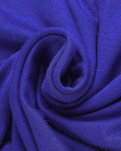 StyleDome Mujer Vestido Mini Corto Playa Verano Sin Mangas Cuello Redondo Cóctel Oficina Noche Azul