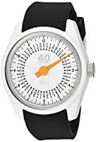 40Nine Men's 'Solo' Quartz Plastic and Silicone Casual Watch, Color:Black (Model: 40N4.2)