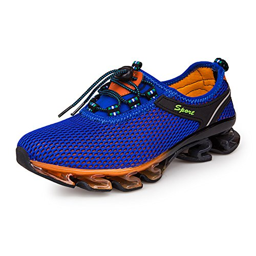 GOMNEAR Running Shoes Men Slip On Mesh Casual Breathable Fashion Stylish Sneakers Athletic Shoes, Royal blue-45 -