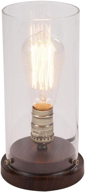 10 in. Faux Wood Vintage Uplight Lamp