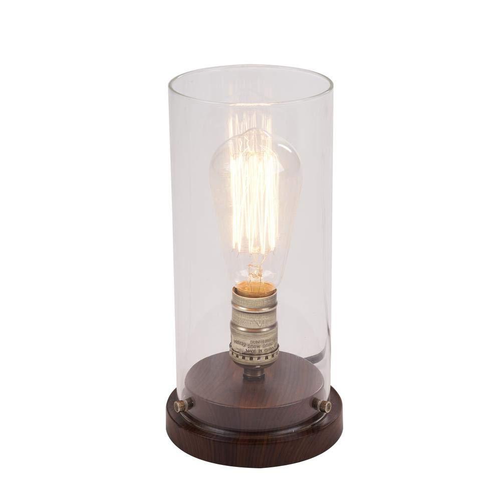 Faux Wood Vintage Uplight Lamp Hampton Bay 10 in