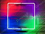 Desung Brand New 14'' Photo frame Square Four Colors Custom Design Decorated Acrylic Panel Handmade Man Cave Neon Sign Light WB04