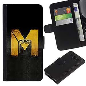 EuroCase - Samsung Galaxy S3 III I9300 - Metro Game - Cuero PU Delgado caso cubierta Shell Armor Funda Case Cover